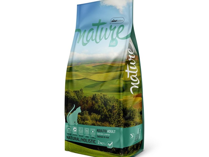 NATURE CAT SALMON Y ARROZ 2 KG